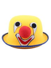 Chapéu de Palhaço de Halloween Traje Engraçado de Carnaval Amarelo