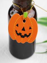 Orange Halloween Costumes Cut Out Pumpkin Hangtag