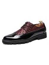 Herrenhalbschuhe Fashion Round Toe Schnürschuhe aus PU-Leder