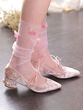 Western Style Lolita Tights Embroidered Butterfly Pattern Socks