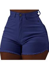 Sexy Booty Short Femme Jeans à Franges Denim
