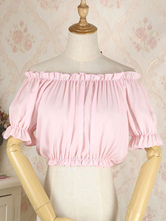 Lolita Korsett für Frauen Pink Rüschen Chiffon