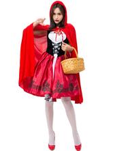 Roter Karneval Kostüme Hut Rotkäppchen Urlaubskostüm Halloween