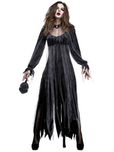 Traje de Halloween para trajes de mulheres de zumbi masculino