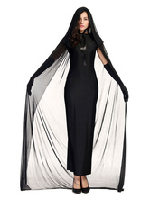 Halloween Kostüm e Damen Schwarzes Kleid Mantel Tüll Halloween Urlaub Kostüme Faschingskostüme