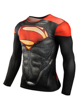 Superman Anime T-shirts Hommes Noir Superman Plus Taille Lait De Soie Anime Marchandise