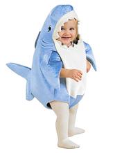 Traje de tubarão bebê Halloween para crianças esponja acolchoada roupas da criança