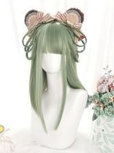 46cm-65cm Lolita Wig Heat-resistant Fiber Avocado Green Lolita Accessories