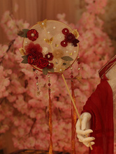 Chinese Style Lolita Accessories Red Butterfly Flowers Miscellaneous