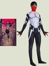 Mono de Cosplay para mujer araña, mono de película blanca enmascarada, disfraz de Cosplay de Marvel Comics