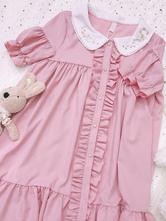 Sweet Lolita OP Dress Pink Ruffles Lolita One Piece Dresses