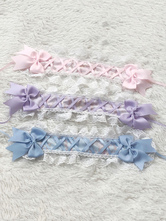 Sweet Lolita Accessories Pink Lace Bow Headwear Polyester Fiber Miscellaneous
