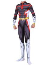 Черный комбинезон My Hero Academia для косплея All Might, костюмы для косплея