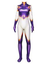 My Hero Academia Cosplay Costumes Cosplay ACADÉMIA Cosplay Violet Lycra Spandex Combinaison Costumes Cosplay Déguisements Halloween