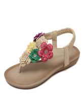 Women's Flat Sandals Flowers Comfy Thong Toe Sandals