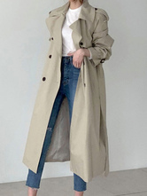 Coat For Woman V Neck Buttons Retro Layered Wrap Coat