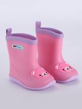 Детские резиновые сапоги Мальчики Девочки Дети круглый носок милый мультфильм кошка медведь дождь обувь