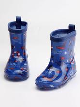 Stivali da pioggia per ragazzi Bambini Bambini Stivali da pioggia impermeabili antiscivolo a punta tonda