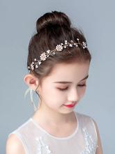 Blumenmädchen Kopfschmuck Blond Perlen Zubehör Perle Haarschmuck Für Kinder
