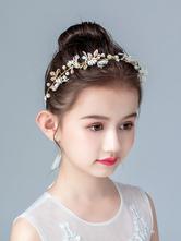 Accessori per capelli Flower Girl Accessori per capelli perlati di perle bionde Accessori per capelli perlati