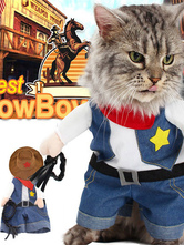 Pet Costume Cowboy Dark Navy Clothes Cotton Pet Supply