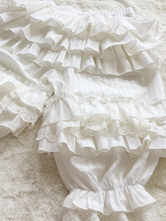 Sweet Lolita Pant White Jacquard Loose Lolita Trousers