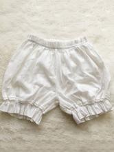 Pantalon lolita blanc lâche en jacquard Bloomers Sweet Lolita