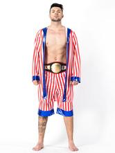 Halloween Kostüm 1980er Jahre Retro Kostüme Männer Boxen Robe Star And Stripe Halloween-Kostüm Faschingskostüme