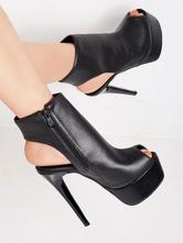 Сексуальные туфли на высоких каблуках Peek A Boo Toe