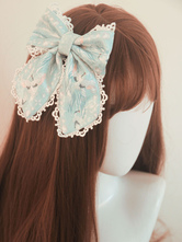 Chinese Style Lolita Headdress Light Wind And Bright Moon Lace Bows Milanoo Exclusive Lolita Hair Clip