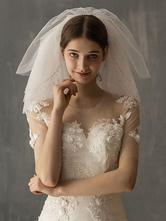 Hochzeitsschleier Sechs Stufen Cut Edge Classic Brautschleier