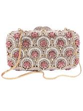 Party Handbags Special Occasion Handbags Rhinestones Metallic Elegant Detachable Wristlet Strap Evening Clutch Bags