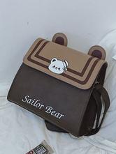 Sweet Lolita Bag Coffee Brown PU Leather Cross Body Bag Lolita Accessories