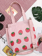 Sweet Lolita Bag Fruit Pattern Pink Shoulder Bag Lolita Accessories