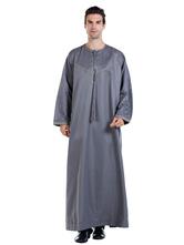 Abbigliamento uomo Arabian Abaya Robe Jewel Collar