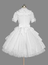 Sweet Lolita OP-Kleid-Weiß Rüschen Lolita One Piece Kleider