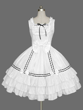 Sweet Lolita JSK-Kleid-Weiß Ärmel Rüschen Lolita Pullover Röcke