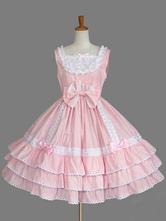 Klassische Lolita JSK Kleid Rüschen rosa Lolita Pullover Röcke