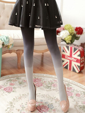 Sweet Lolita Stocking Neverland Grey Polyester Two Tone Lolita Accessories