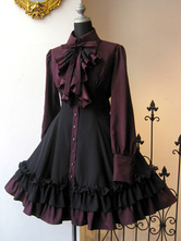 Gothic Lolita OP Dress Black Red Ruffles Lolita One Piece Dresses