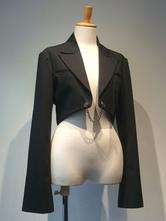 Gothic Lolita Coats Black Christmas Metal Details Cotton Blend Lolita Outwears
