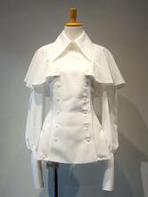 Gothic Lolita Blusen Schnürung Lolita Top Langarm Weißes Lolita Shirt