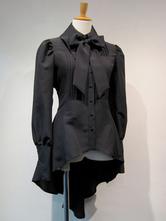 Gothic Lolita Blusen Lolita Top Weiß mit langen Ärmeln Rüschen Lolita Hemd