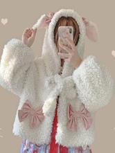 Sweet Lolita Coats weißer Polyester-Mantel Winter Lolita Outwears