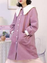 Sweet Lolita Mäntel Soft Pink Synthetic Winter Lolita Outwears