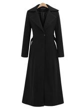 Wickelmantel Oberbekleidung Umlegekragen Schnürung Beiläufiger Übergroßer Schwarzer Mantel Für Frauen