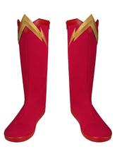 Das Flash Cosplay Staffel 6 Barry Allen Lederschuhe DC Comics Cosplay Kostüm