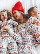 Disfraz Carnaval Family Christmas Pyjama Christmas Print Conjunto de ropa de dormir familiar de 2 piezas Carnaval Halloween