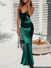Maxi Dresses Green Simple Sexy Party Dress For Night Out