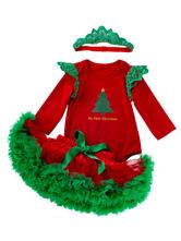 Faschingskostüm Kleinkind Weihnachten Set geschichteten Rüschen Tutu Rock Baumwolle Weihnachtsferien Kostüme Karneval Kostüm